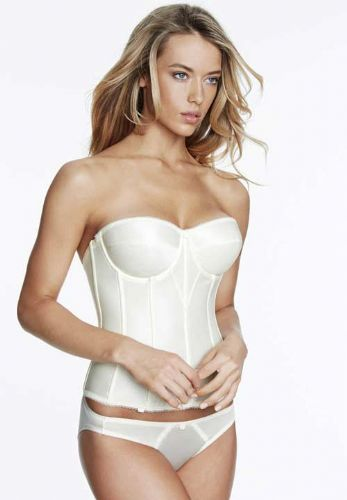 Basque in Smooth Satin (Torsolette Style) in Ivory or Black